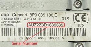 Audi magnetolos atkodavimas
