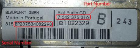 fiat 1 - Fiat magnetolos atkodavimas