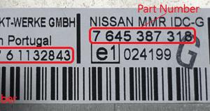 Nissan magnetolos atkodavimas