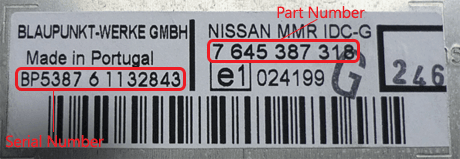 nissan 1 - Nissan magnetolos atkodavimas