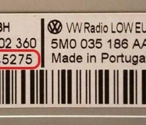 Volkswagen magnetolos atkodavimas